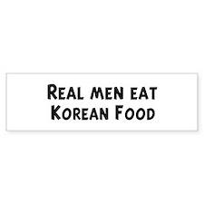 Men eat Korean Food Bumper Bumper Sticker