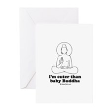 I'm cuter than baby Buddha / Baby Humor Greeting C