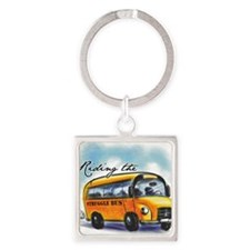 Riding the Struggle Bus Square Keychain