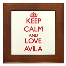 Keep calm and love Avila Framed Tile