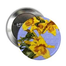 "Yellow Painted Daylily 2.25"" Button"