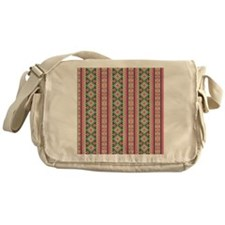 Pink and Green Aztec Pattern Messenger Bag