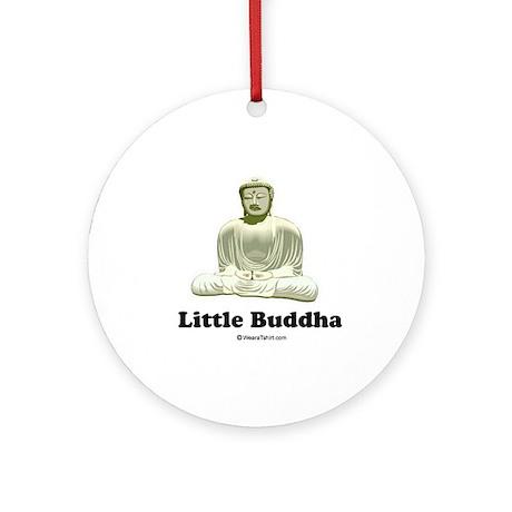 Little Buddha / Baby Humor Ornament (Round)