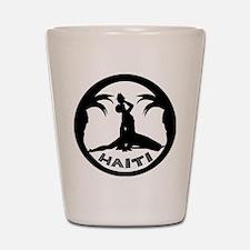 N Marron white Shot Glass