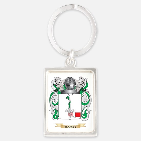 Hayes Coat of Arms (Family Crest Portrait Keychain