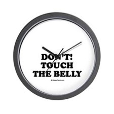 Don't touch the belly / Maternity Wall Clock