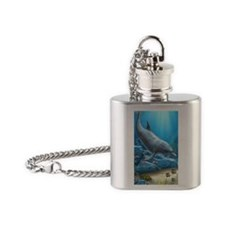 The World Of The Dolphin Flask Necklace