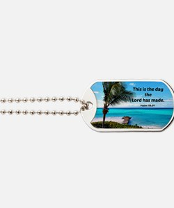 Psalm 118:24, This is the day the Lord ha Dog Tags