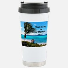 Psalm 118:24, This is t Stainless Steel Travel Mug