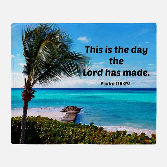 Psalm 118:24, This is the day the Lo Throw Blanket