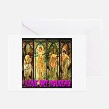 I Love Art Nouveau Greeting Cards (Pk of 10)
