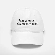 Men eat Grapefruit Juice Baseball Baseball Cap