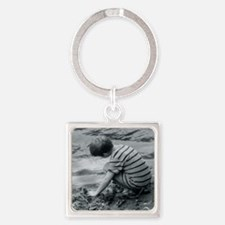 boy by water Square Keychain