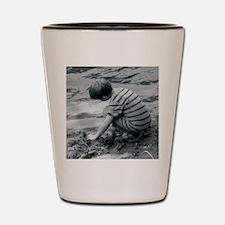boy by water Shot Glass