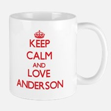 Keep calm and love Anderson Mugs