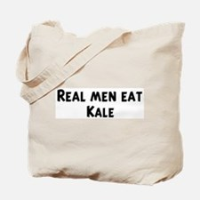 Men eat Kale Tote Bag