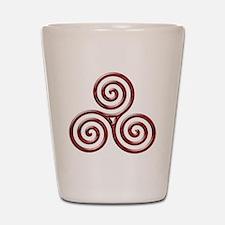 Red Triple Spiral-plain Shot Glass