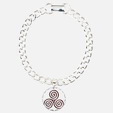 Red Triple Spiral-plain Bracelet