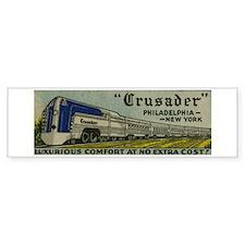 Reading Crusader Streamliner Bumper Bumper Sticker