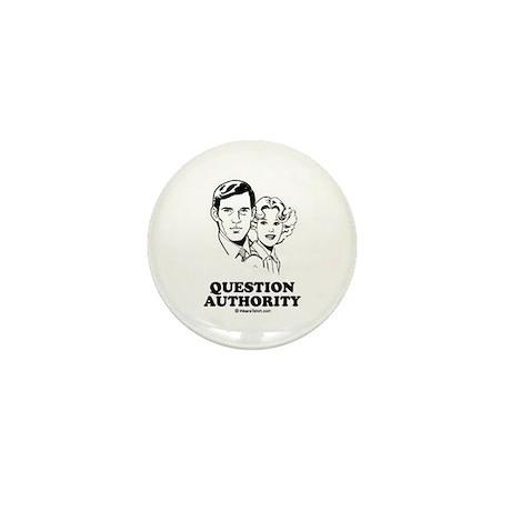 Question Authority Mini Button