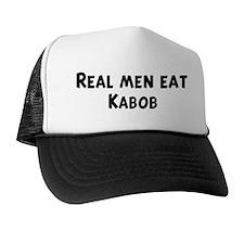 Men eat Kabob Trucker Hat