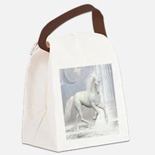 White Unicorn 2 Canvas Lunch Bag