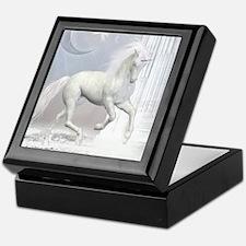White Unicorn 2 Keepsake Box