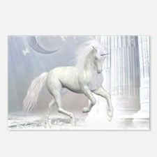 White Unicorn 2 Postcards (Package of 8)