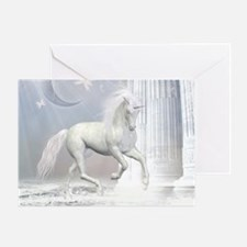 White Unicorn 2 Greeting Card