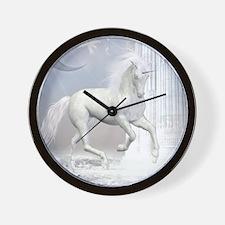 White Unicorn 2 Wall Clock