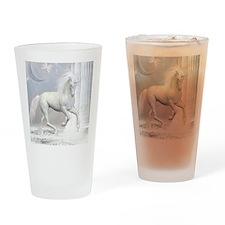 White Unicorn 2 Drinking Glass