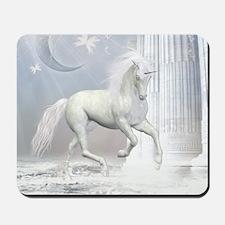 White Unicorn 2 Mousepad