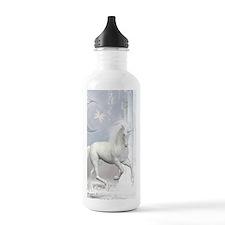 White Unicorn 2 Water Bottle