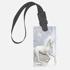 White Unicorn 2 Luggage Tag