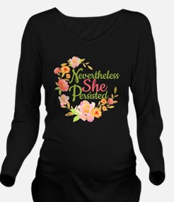 Unique Empower Long Sleeve Maternity T-Shirt