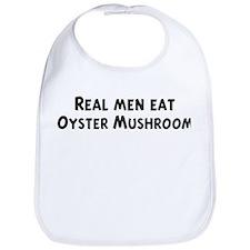 Men eat Oyster Mushroom Bib