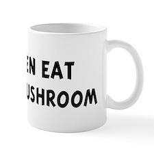 Men eat Oyster Mushroom Mug