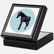 Black Horse with Blue Eyes Keepsake Box