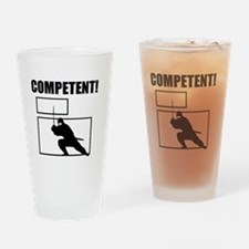 Competent Ninja Drinking Glass