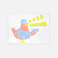 Robo Chicken 5'x7'Area Rug