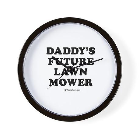 Daddy's future lawn mower / Baby Humor Wall Clock