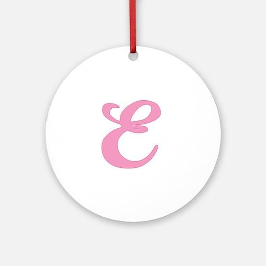 E Initial Ornament (Round)