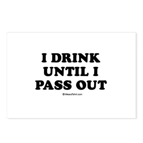 I drink until I pass out / Baby Humor Postcards (P