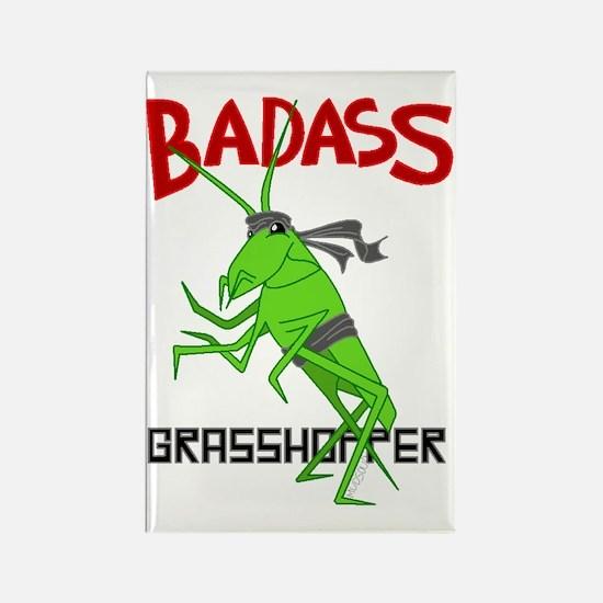 le badass grasshopper Rectangle Magnet