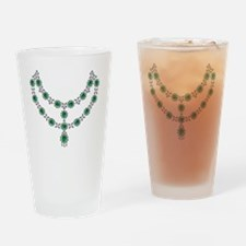 two-strand-emerald-faceted-necklace Drinking Glass