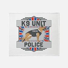 Custom German Shepherd K9 Unit Police Throw Blanke