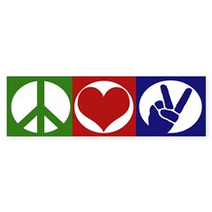 Peace, Love, Freedom (bumper sticker)