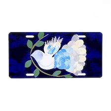 Peace Spirit Dove Aluminum License Plate