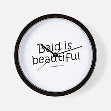 Bald is beautiful / Baby Humor Wall Clock