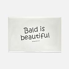 Bald is beautiful / Baby Humor Rectangle Magnet